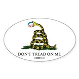 Anti-Obama Gadsden Flag Decal