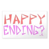 HAPPY ENDING Rectangle Bumper Stickers