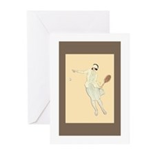 1920's Tennis Girl - Greeting Cards (Pk of 20)