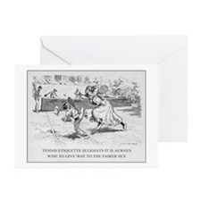 Tennis Etiquette - Greeting Cards (Pk of 10)