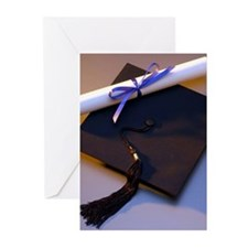 Graduation Hat And Diploma Greeting Cards (Pk of 1