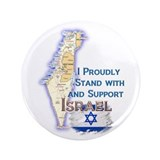 "I Stand With Israel - 3.5"" Button"