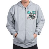 Smile and blow me! Zip Hoodie