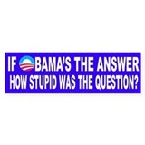 If Obama's the Answer Car Sticker