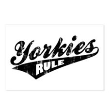 Yorkies Rule Postcards (Package of 8)