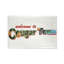 Welcome to Cougar Town Rectangle Magnet