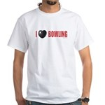 Bowling Love 2 White T-Shirt