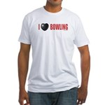 Bowling Love 2 Fitted T-Shirt