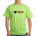Bowling Love 2 Green T-Shirt