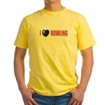 Bowling Love 2 Yellow T-Shirt