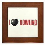 Bowling Love 2 Framed Tile