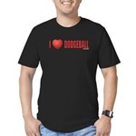Dodgeball Love 2 Men's Fitted T-Shirt (dark)