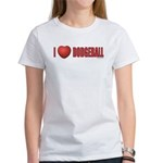 Dodgeball Love 2 Women's T-Shirt