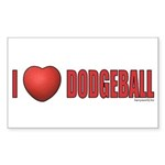 Dodgeball Love 2 Sticker (Rectangle 50 pk)