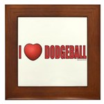 Dodgeball Love 2 Framed Tile