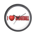Dodgeball Love 2 Wall Clock