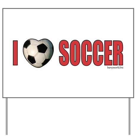 Soccer Love 2 Yard Sign