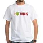 Tennis Love 2 White T-Shirt