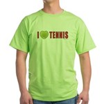 Tennis Love 2 Green T-Shirt