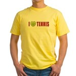 Tennis Love 2 Yellow T-Shirt