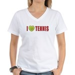 Tennis Love 2 Women's V-Neck T-Shirt