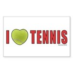 Tennis Love 2 Sticker (Rectangle 10 pk)