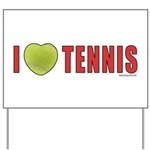 Tennis Love 2 Yard Sign