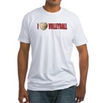 Volleyball Love 2 Fitted T-Shirt