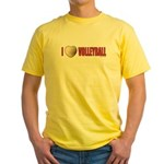 Volleyball Love 2 Yellow T-Shirt
