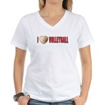 Volleyball Love 2 Women's V-Neck T-Shirt