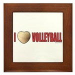 Volleyball Love 2 Framed Tile