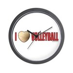 Volleyball Love 2 Wall Clock