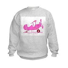 Papa's Co-Pilot Pink Sweatshirt