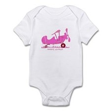Papa's Co-Pilot Pink Infant Bodysuit