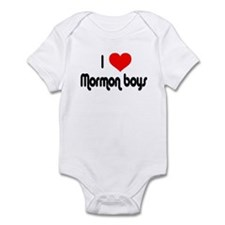 I Love Mormon Boys Infant Bodysuit