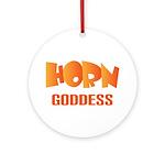 Horn Goddess Ornament (Round)