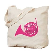 French Horn Silhouette Tote Bag