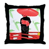 Cute Oriental Throw Pillow