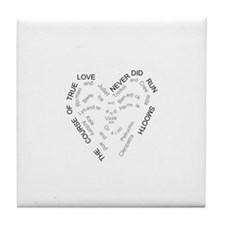 Cute Love to read Tile Coaster