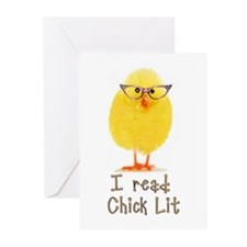 Library Chick Greeting Cards (Pk of 10)