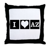 I Love AZ Throw Pillow