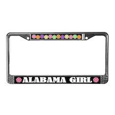 Cute Alabama Girl License Plate Frame Gift