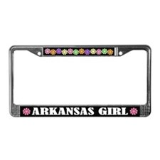Cute Arkansas Girl License Plate Frame