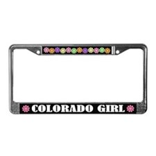 Cute Colorado Girl License Plate Frame Gift