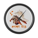 Hermit Crab Large Wall Clock