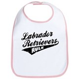 Labrador Retrievers Rule Bib