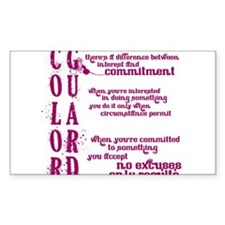 COLOR GUARD: Commitment Decal