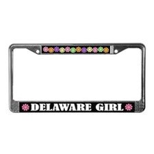 Delaware Girl License Plate Frame Gift