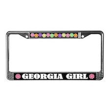 Georgia Girl License Plate Frame Gift