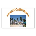 Venice California Sticker (Rectangle)